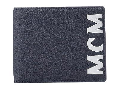 MCM New Big Logo Flap Wallet/Two-Fold Small (Navy) Wallet Handbags