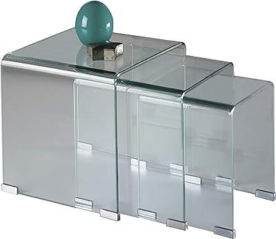 Schuller 552283 Gigogne Mesa Comedor Cristal/Transparente 42 x 42 ...