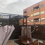 QUICK STAR Cubierta de repuesto para pabellón de jardín 3x4m Cubierta de repuesto de techo de pabellón antiguo Beige