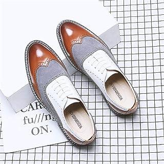 HLDJ Zapatos Vestido Hombres Negocios Británico Clásico Oxford Zapato Casual Zapatos Cómodos Arranque Estilo Británico Ext...