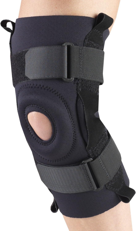 OTC Knee Stabilizer Hinged Max 72% OFF Bars 4X-Large Neoprene Max 86% OFF Black