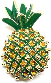 GOLDEN GREEN PINEAPPLE LADIES BROOCH PIN GIFT