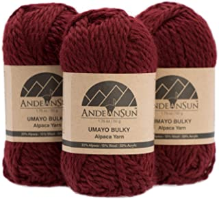 Bulky Alpaca Yarn Blend (Weight #5) Bulky, Chunky Skeins - Set of 3 SKEINS - 164 Yards Total - 150 Grams - 5.28 Ounces Total