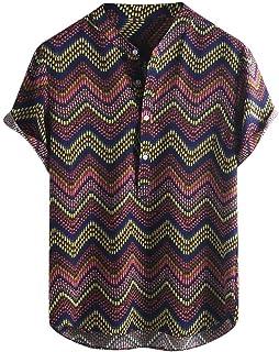 Camisa De Verano A Para Botón Hombres Rayas De Tamaños Cómodos Solapa Para Hombres Camisa Casual De Manga Corta De Hawaii ...