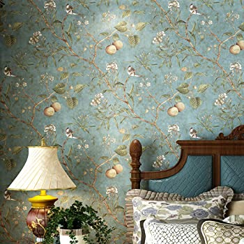 Tree Birds Floral Peel And Stick Farmhouse Wallpaper Prepasted Wall Paper For Renters Rv Bathroom Kitchen Backsplash Cabinets Window Living Room Bedroom 20 83x117 Inches Amazon Com