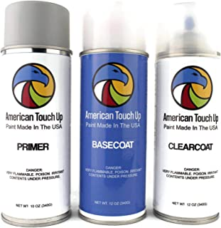 American Touch Up | Automotive Touch Up Paint for Nissan | KY0 Chrome Silver Metallic | OEM Spray Paint (Primer/Basecoat/Clearcoat)