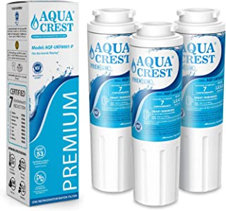 AQUACREST UKF8001 Water Filter, Replacement for Maytag UKF8001P, UKF8001AXX, Whirlpool 4396395, EDR4RXD1, EveryDrop Filter 4, NSF 53 Certified to Reduce 99% Lead and More (Pack of 3, package may vary)