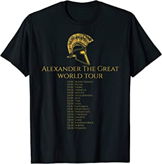 Ancient History Shirt - Alexander The Great World Tour