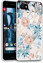HelloGiftify Vintage Floral TPU Soft Gel Protective Case. Compatible with Google Pixel 2XL