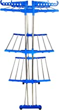 LAKSHAY Cloth Dryer Stand - Foldable - Stainless Steel Pipes- Heavy Duty Dark Blue Colour