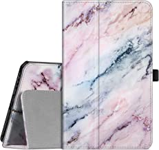 Fintie Folio Case for Samsung Galaxy Tab A 8.0 2019 Without S Pen Model (SM-T290 Wi-Fi, SM-T295 LTE), [Corner Protection] Slim Fit Premium Vegan Leather Stand Cover, Marble Pink