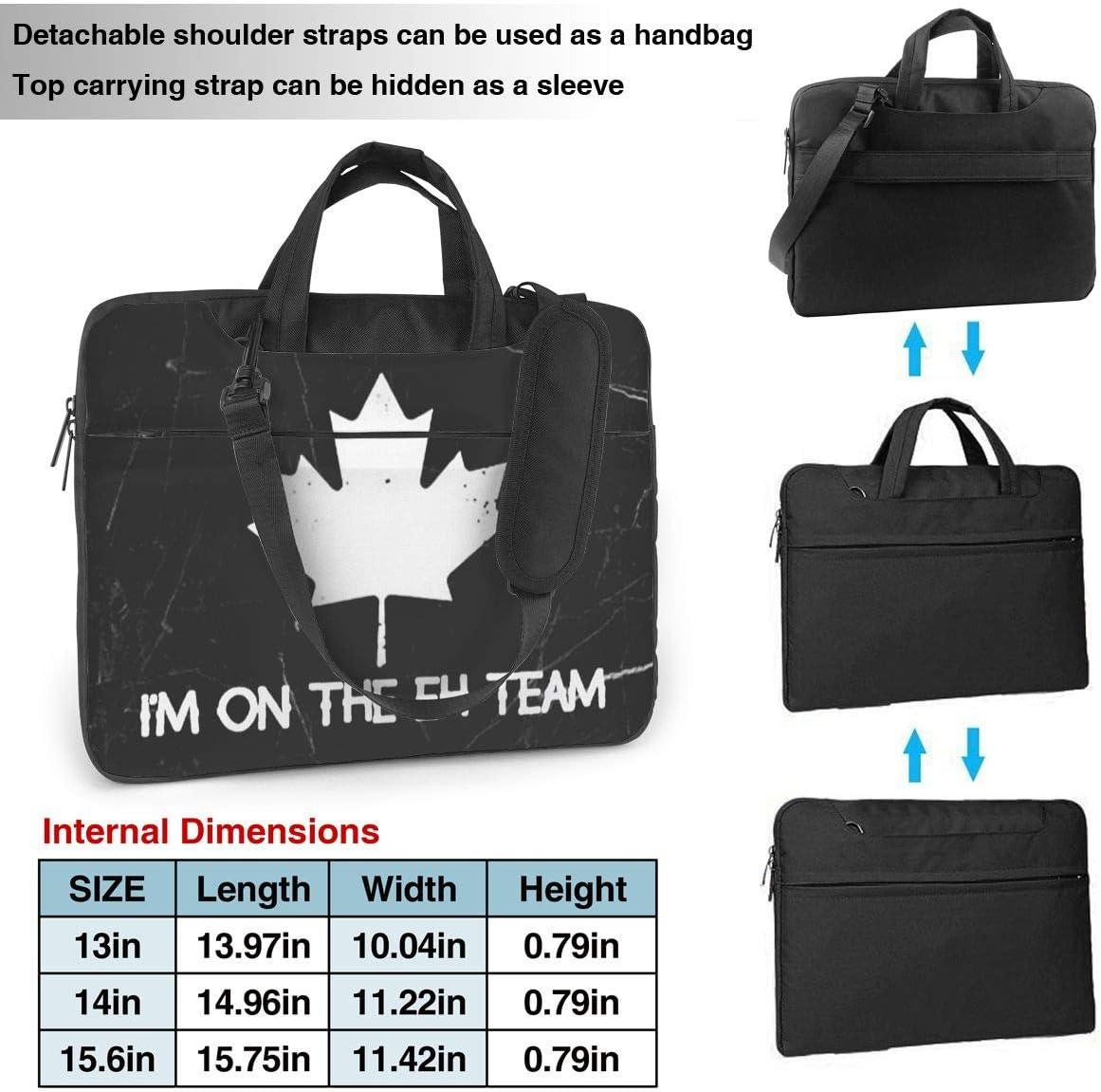 Im On The Eh Team Canada Canadian Laptop Bag One Shoulder Shockproof Laptop Bag