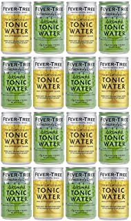 Fever-Tree Indian Tonic Water & Refreshingly Light Cucumber Tonic Water Cans 16 x 150ml - Mixed Pack x 16