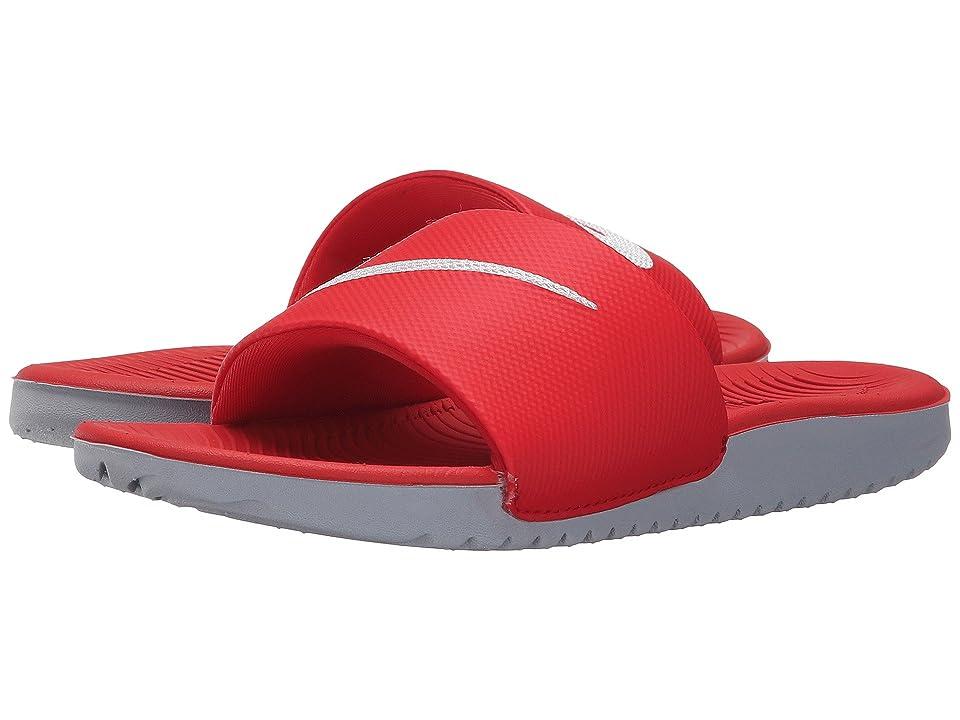 Nike Kids Kawa Slide (Little Kid/Big Kid) (University Red/White) Boys Shoes