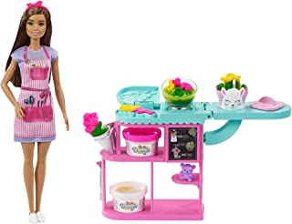 Barbie Florist Playset with 12-in Brunette Doll,...