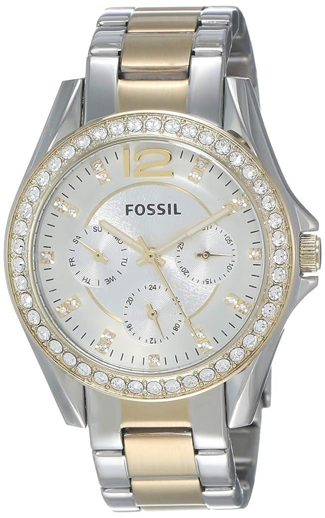 Fossil Women's Riley Stainless Steel Multifunction Glitz Quartz Watch rqck8959138243