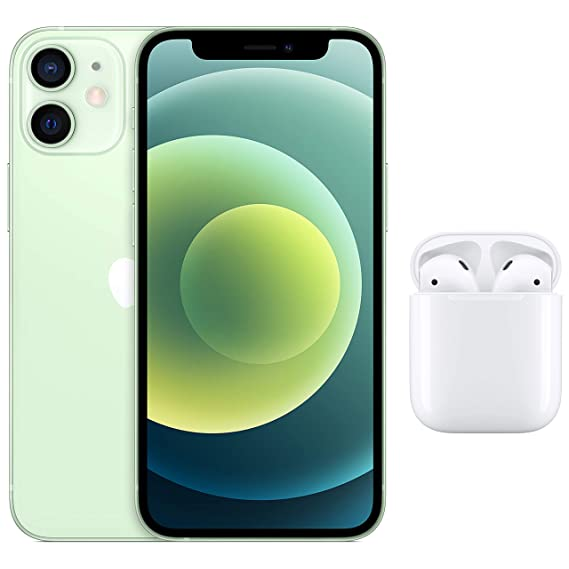 New Apple iPhone 12 Mini (256GB) - Green with AirPods with Charging Case