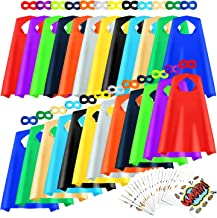 AIMIKE Superhero Capes and Masks for Kids, 24 Sets Bulk Pack Party Dress Up Cape