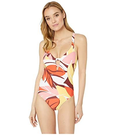 Seafolly Cut Copy Deep V Maillot One Piece Swimsuit (Tangelo) Women