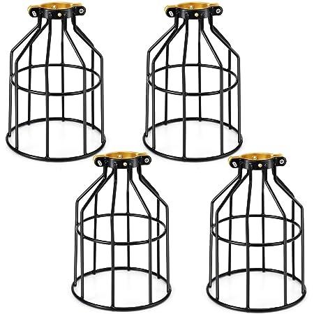 Kohree Lampe Suspension Lminaire Rtro Industriel Cage Métal Noir Pour Eclairage Salon Salle A Manger Cuisine Chambre Sous Sol Couloir Entrée Café…