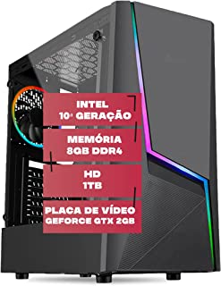 PC Gamer, Intel 10ª Geração, Placa de vídeo Geforce GTX 2GB, 8GB DDR4 2666MHZ, HD 1TB, 500W, Skill Comet