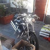 Led Motorrad Mini Blinker Bullet Bates Chopper Custom Caferacer Schwarz 2 Paar Auto