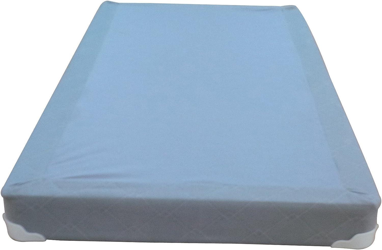 Continental Sleep Memory Foam Gel 5-Inch Split Box Spring Fabric Stretch Knit, Twin, Grey