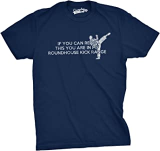 Crazy Dog Tshirts - Youth If You Can Read This You Are In My Roundhouse Kick Range T Shirt - Camiseta para Niños