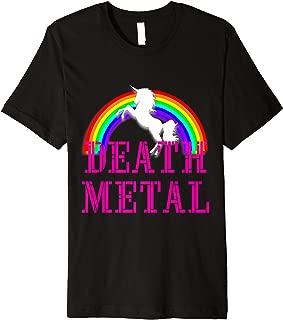 Death Metal Unicorn and Rainbow Shirt I Love Unicorns  Premium T-Shirt