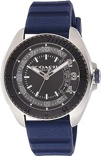 Coach Mens Quartz Wrist Watch, Blue Silicone- 14602447