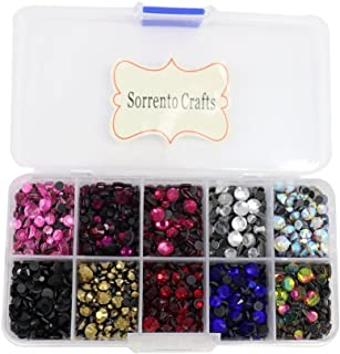 5000pcs/box,500pcs/color Mixed 10 Colors Mixed Sizes Glass Rhinestones Flatback Hot Fix Stones