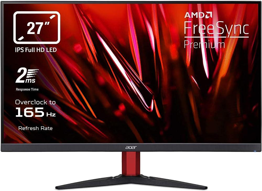 Acer monitor curvo 27 pollici display ips full hd 165 hz overclocking 2 ms freesync premium hdmi Acer Nitro KG272Sbmiipfx