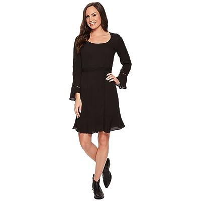 Stetson 1494 Poly Crepe Long Sleeve Dress (Black) Women