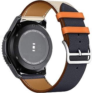 MroTech Pulsera Piel 22mm Compatible para Samsung Galaxy Watch 46mm/Gear S3 Frontier/Classic Correa Reloj de Reemplazo par...