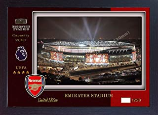 S&E DESING Arsenal Emirates Stadium wenger no Signed Panoramic Photo Poster Print Framed