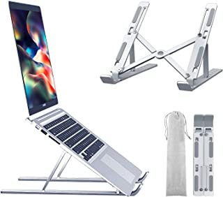 Laptop Stand Laptop Riser, Portable 6 Angles Adjustable Laptop Holder for Desk, Ventilation and Heat Cooling Aluminum Note...