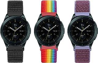 Unnite 20mm Nylon Bands Compatible for Samsung Galaxy Watch 3 41mm/Watch 42mm/Active 2 40mm 44mm/Garmin Vivomove/Vivoactiv...