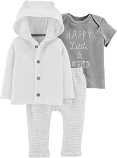 Carter's Baby Boys 3-pc. Little & Loved Cardigan Clothing Set