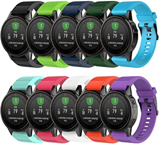 QGHXO Band for Garmin Fenix 5S / Fenix 6S,  Soft Silicone Replacement Watch Band Strap for Garmin Fenix 5S/Fenix 5S Plus/Fenix 6S/Fenix 6S Pro Smart Watch,  Fit 5.31 inches-8.46 inches