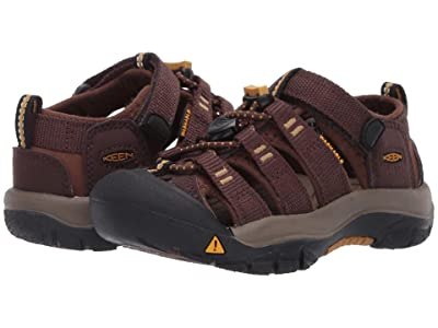 Keen Kids Newport H2 (Toddler/Little Kid) (Coffee Bean/Bison) Kids Shoes