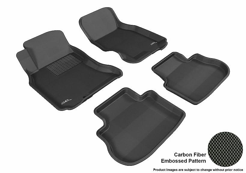 3D MAXpider Complete Set Custom Fit All-Weather Floor Mat for Select Infiniti FX35/45 Models - Kagu Rubber (Black)