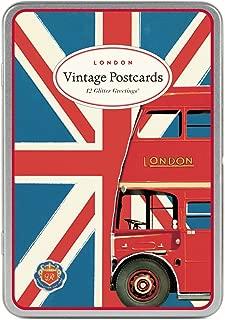 Cavallini & Co. Vintage London Glitter Greetings Postcards