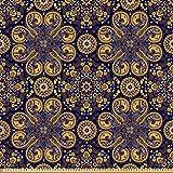 ABAKUHAUS Mandala Stoff als Meterware, Östliche abstrakte