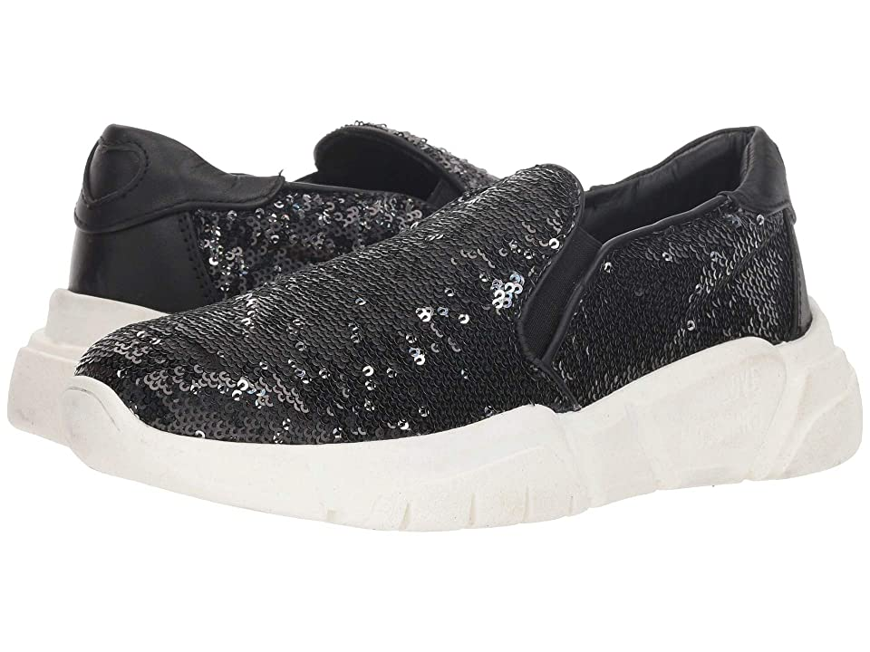 LOVE Moschino Sequins Slip-On (Black/Silver Sequins) Women