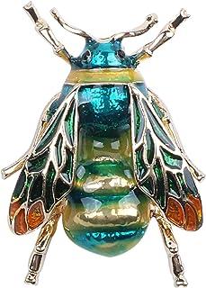TOOGOO Modische Bumble Bee Crystal Brosche Pin Kostuem Abzeichen Party Schmuck Geschenk gruene Biene