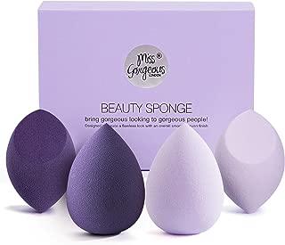 Miss Gorgeous Makeup Sponge Blender Beauty Foundation Blending Sponge for Liquid, Cream, and Powder (4Pcs)