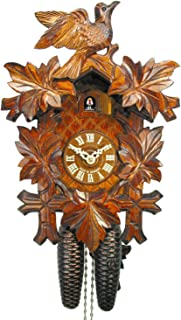 Reloj De Cuco en la selva negra/Negro Bosque de reloj (Original, certificado), de 8días de, Mecánico, 5hojas de hojas, 1pájaro, kukus Reloj, kukuks Reloj, kuckuks Reloj (Bonito regalo de Navidad)