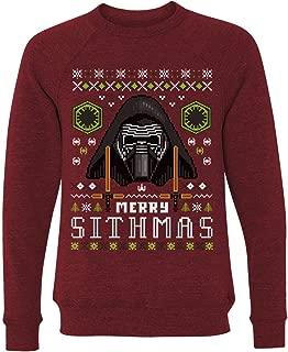 Customized Girl Ugly Xmas Sithmas Sweater: Unisex Triblend Crewneck Sweatshirt