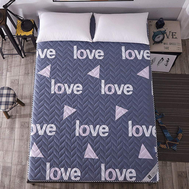 Thicken Mattress Warm Tatami Dormitory Sleeping Mat Home Bedroom Floor Mat Strap Design (color   A, Size   120X200cm)
