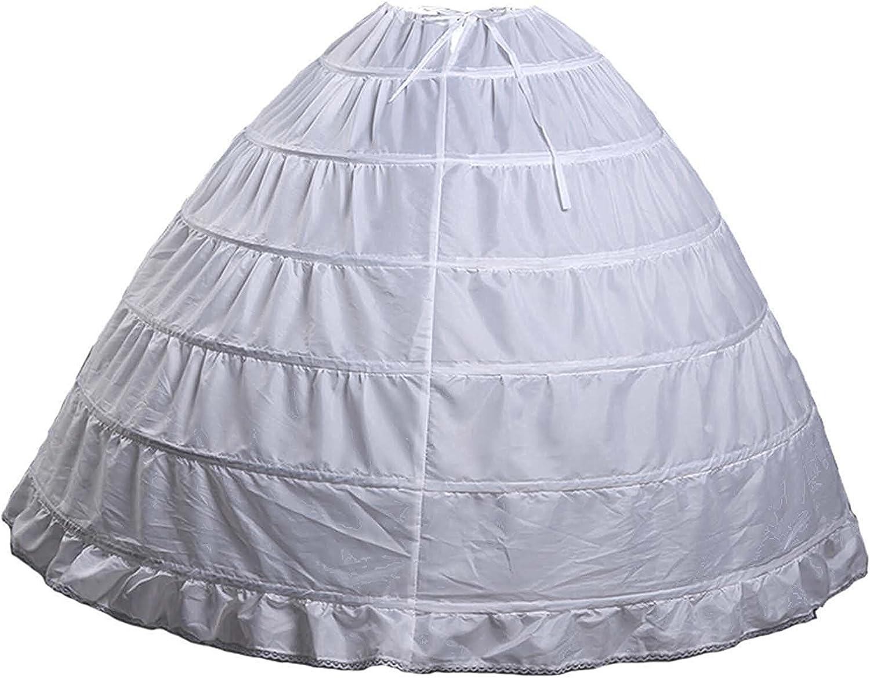 6 Hoop Bridal Petticoat Slip Ball Max 87% OFF Underskirt Detroit Mall P004 Gown Crinoline
